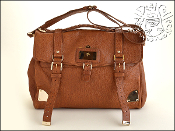 Mulberry Oak Brown Leather Oversized Travel Alexa Messenger Bag