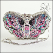 Judith Leiber Limited Edition Crystal Butterfly Minaudiere
