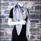 Chanel Grey Chiffon Worldwide CC Boutiques 140x140 GM Shawl