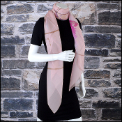 Chanel Pink Chiffon Worldwide CC Boutiques 140x140 GM Shawl