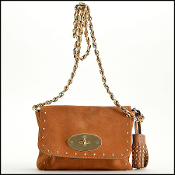 Mulberry Oak Suede Lily with Tassels Crossbody