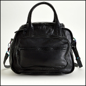 Alexander Wang Black Leather Eugene Iridescent HW Crossbody Bag