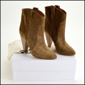 Size 40 Isabel Marant Brown Suede Roxann Booties