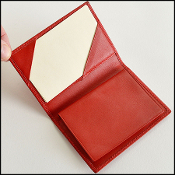 Takashimaya XS Red Leather Address Book and Wallet