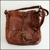 Campomaggi distressed sable saddle leather crossbody