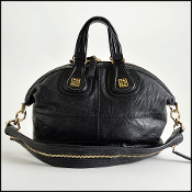 Givenchy Black Leather Small Nightingale Satchel with Strap
