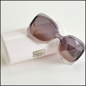 Jimmy Choo Translucent Clear/Grey Ombre Large Sunglasses
