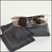 Kieselstein-Cord Grey & Titanium Crocodile Superstar Sunglasses