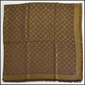 Louis Vuitton Brown Shine Shawl