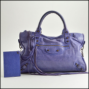 Balenciaga Bleu Lavande Purple Lambskin Classic City Bag