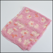 Christain Dior Pink and Cream Floral Stole/Shawl