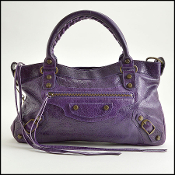 Balenciaga Eggplant Purple First Classique Handbag