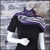 Chanel Airlines '16 Plum/White Flying Wings GM Shawl Large Scarf