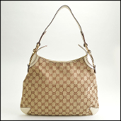 Gucci Beige GG Canvas & Leather Creole Hobo Tote