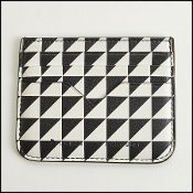 Proenza Schouler Black/White Triangle Print Leather Card Holder
