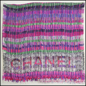 Chanel Fuschia/Purple Photo Tweed Silk & Cashmere Blend Shawl
