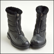 Size 39 Chanel Black Shearling Snow Boots
