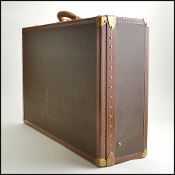 Louis Vuitton Vintage Coated Canvas Alzer 80cm Hardcase Trunk