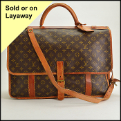 Louis Vuitton Vintage LV Monogram Canvas Kleber GM Travel Bag