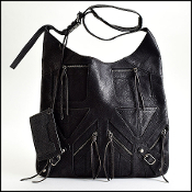 Balenciaga 2002 Black Motorcycle Multi-Zip Besace Hobo/Messenger