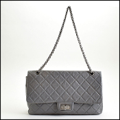 Chanel '08/'09 Grey Aged Calfskin Jumbo Reissue 227 Bag