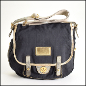 Marc By Marc Jacobs Black/Gold Nylon Crossbody Bag
