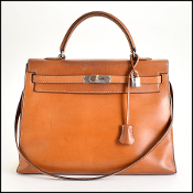 Hermes Barenia Leather Kelly Sellier 35cm Handbag w/Strap