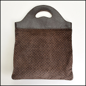 Gucci Vintage Chocolate Brown Suede Sac