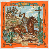 Hermes Orange/Multi Pony Express by Kermit Oliver