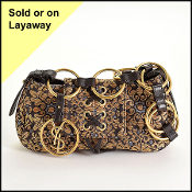 YSL Gold & Black Sac Casablanca Shoulder Bag