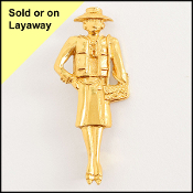 Chanel Coco Chanel Figurine Brooch
