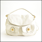 Marc By Marc Jacobs White Leather Hobo Bag