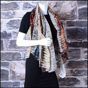 Valentino Multicolor Dragon Scales Cashmere Shawl