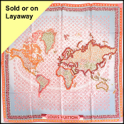 Louis Vuitton Map of the World Silk Scarf