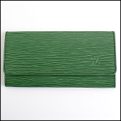 Louis Vuitton Green Epi Leather Slim Wallet