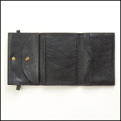 Il Bisonti Black Leather Wallet