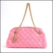 Chanel Mademoiselle Pink Jersey Shoulder Bag