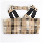 Burberry Plaid Cumberbund