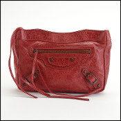 Balenciaga 2010 Sang Red Lambskin Makeup Clutch