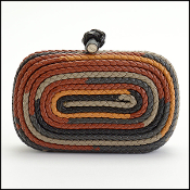 Bottega Veneta Multicolor Woven Knot Clutch