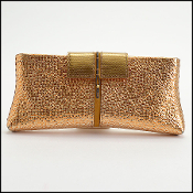 VBH Copper Metallic Poche Clutch