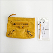 Balenciaga Marigold Yellow Chevre Leather Coin Purse