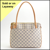Louis Vuitton 2011 Damier Azur Figheri PM Tote Bag
