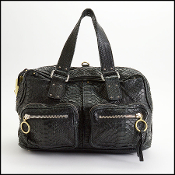 Chloe Black Python Leather Betty Bag