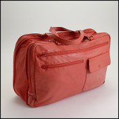 Mark Cross Vintage 70's Red Lambskin Carry On Bag