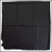 Louis Vuitton LV Monogram Black Silk/Wool Shawl