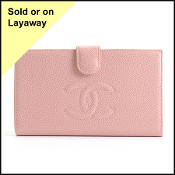 Chanel 2004 Pink Caviar Leather Wallet