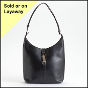 Gucci Black Leather Small Jackie Bag