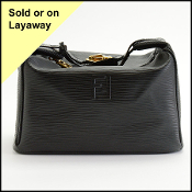 Fendi Vintage Black Epi Leather Travel Case