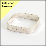 Tiffany & Co. 2001 Sterling Silver 1837 Square Bangle